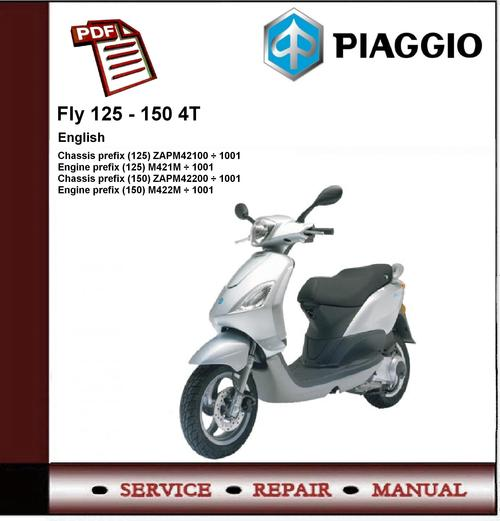 Piaggio Fly 125 - 150 4t Workshop Service Repair Manual