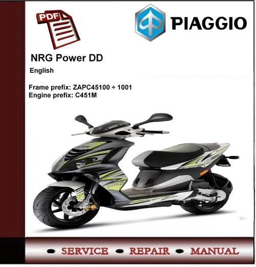Piaggio nrg power dd workshop service repair manual download manu.