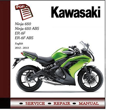 Kawasaki Ninja 650 Er-6f 2012 - 2013 Workshop Service Manual