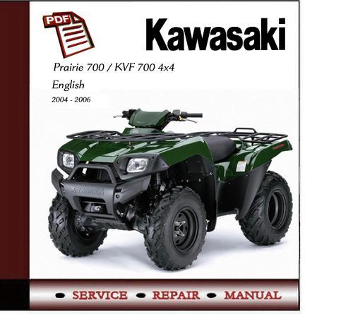 Kawasaki Prairie 700 / KVF700 4x4 Workshop Service Manual on