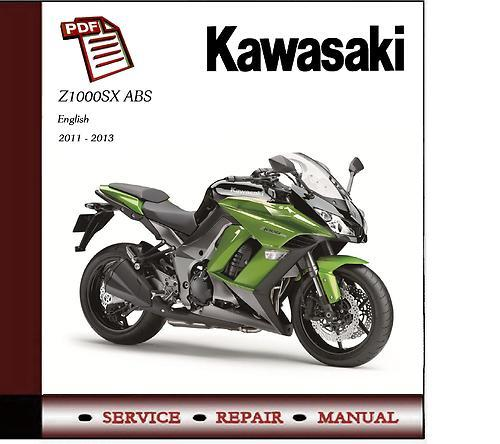 Kawasaki Z1000SX ABS 2011 - 2013 Workshop Service Manual ...