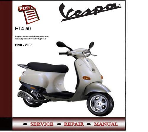 piaggio vespa lx 50 4t service repair manual pdf