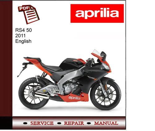 Free Aprilia Rs4 50 2011 workshop service repair manual Download thumbnail
