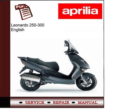 aprilia leonardo 250 300 workshop service manual. Black Bedroom Furniture Sets. Home Design Ideas