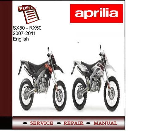 Free Aprilia RX50 - SX50 2007-2011 Workshop Service Manual  Download thumbnail