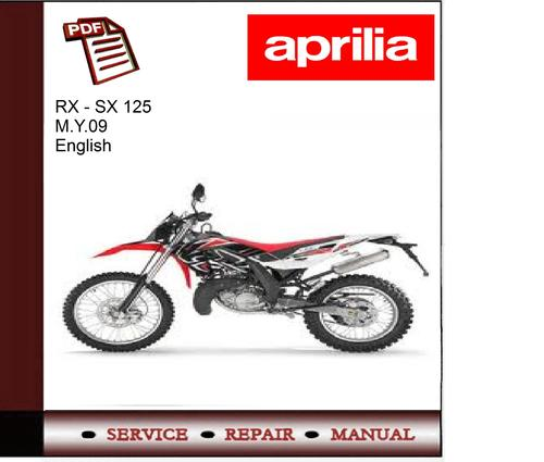 pay for aprilia rx - sx 125 m y 09 workshop service manual