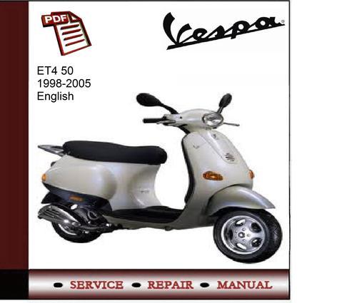 vespa et4 50 1998 2005 workshop service manual download manuals rh tradebit com vespa workshop manual download vespa workshop manual