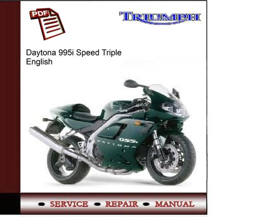triumph daytona 955i speed triple workshop service manual. Black Bedroom Furniture Sets. Home Design Ideas