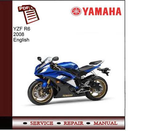 yamaha yzf r6 2008 workshop service manual download. Black Bedroom Furniture Sets. Home Design Ideas