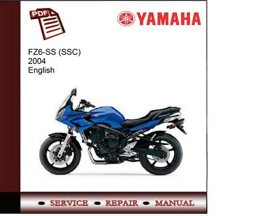yamaha fz6 ss service manual pdf download