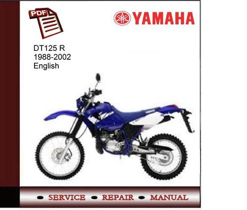 yamaha dr125 r 88 02 workshop service manual download. Black Bedroom Furniture Sets. Home Design Ideas