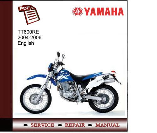 yamaha tt600re 04 06 workshop service manual download manuals a rh tradebit com