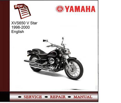 yamaha xvs650 v star 1998 2000 service manual download. Black Bedroom Furniture Sets. Home Design Ideas