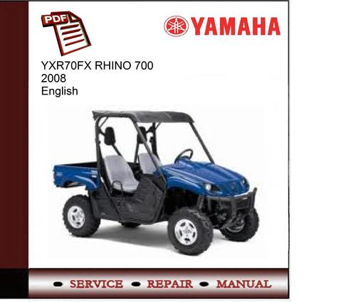 Yamaha Yxr70fx Rhino 700 2008 Service Manual