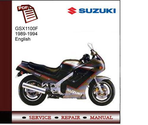 suzuki gsx1100f 1989 1994 service manual download. Black Bedroom Furniture Sets. Home Design Ideas