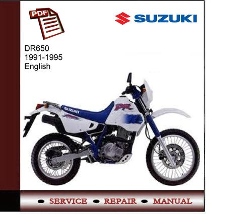 suzuki dr650 1991 1995 service manual download manuals tech rh tradebit com suzuki dr 650 manual usuario suzuki dr650 manual free