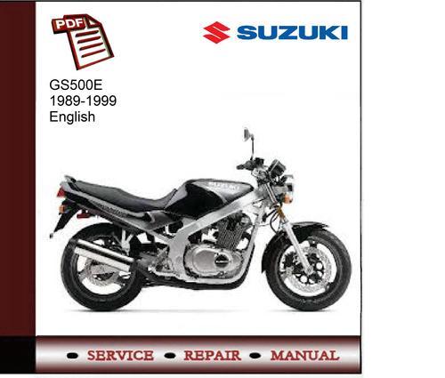 Suzuki Gs500e 89-99 Service Manual