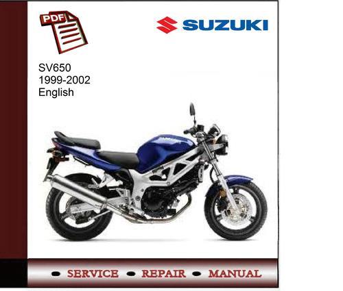 suzuki sv650 99 02 service manual download manuals technical rh tradebit com 2000 Suzuki SV650 K-1 2002 Suzuki SV650 Parts