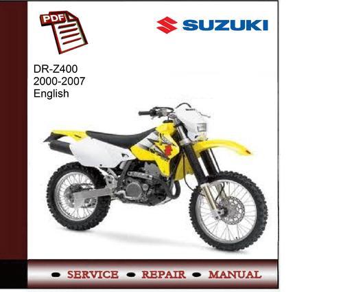suzuki dr z400 2000 2007 service manual download manuals. Black Bedroom Furniture Sets. Home Design Ideas