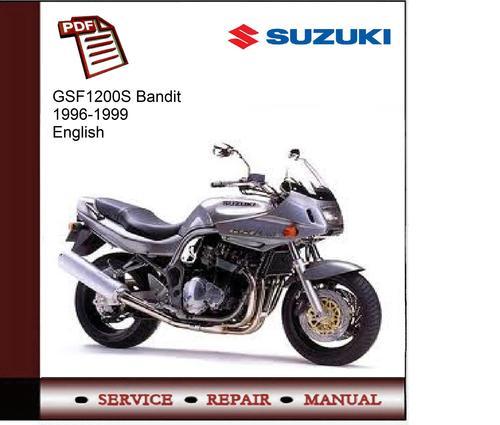 suzuki gsf1200s bandit 96 99service manual download. Black Bedroom Furniture Sets. Home Design Ideas