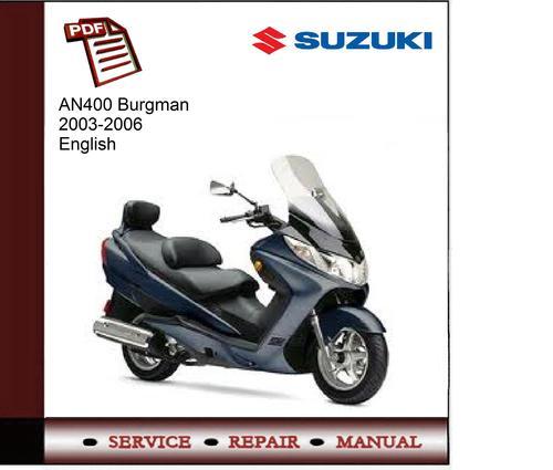 Suzuki An400 Burgman 2003-2006 Service Manual