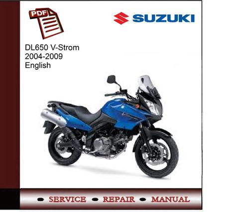 suzuki dl650 v strom 2004 2009 service manual download manuals rh tradebit com Suzuki DL650 Accessories Suzuki Scooters