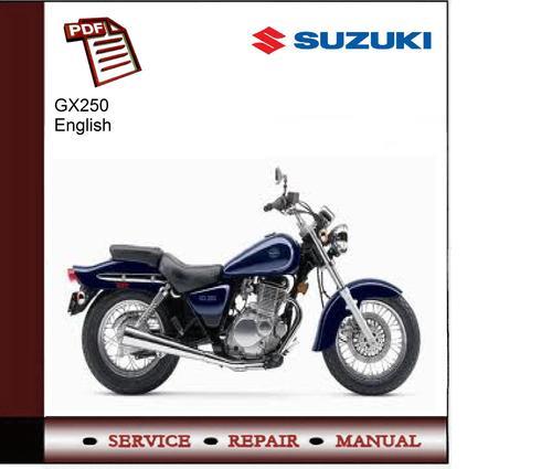 suzuki gz250 service manual download manuals technical rh tradebit com Suzuki GZ250 Bobber 2005 suzuki gz250 owners manual