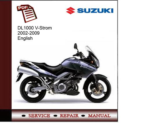 Pay for Suzuki DL1000 V-Strom 2002-2009 Service Manual
