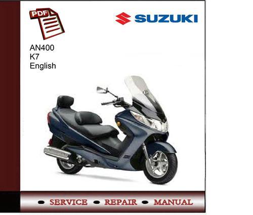 Suzuki AN400 K7 Service Manual