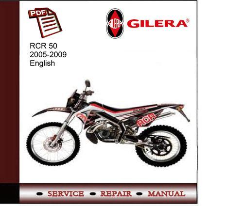 Free Gilera SMT RCR50 2005-2009 Service Manual Download thumbnail