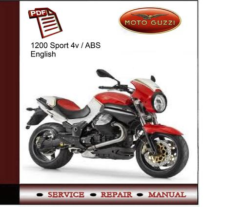 download moto guzzi 1200 sport motoguzzi service repair workshop manual