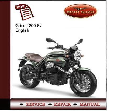 moto guzzi griso 1200 8v service manual download manuals. Black Bedroom Furniture Sets. Home Design Ideas