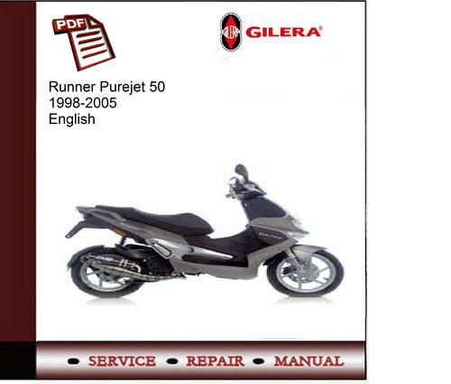 gilera runner purejet 50 1998 2005 service manual download manua rh tradebit com gilera runner 180 service manual pdf gilera runner 50 manual