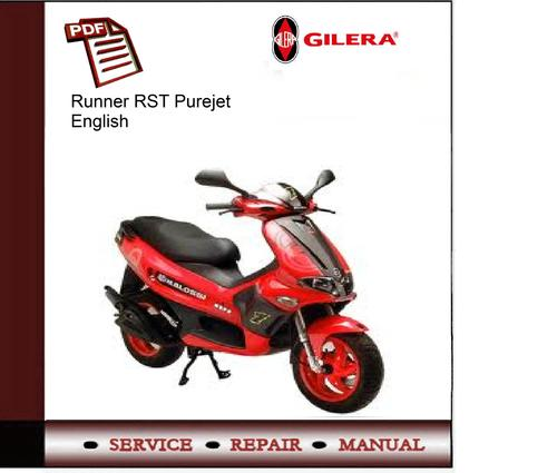 Gilera runner fx-fxr 125cc -180cc service repair manual download.