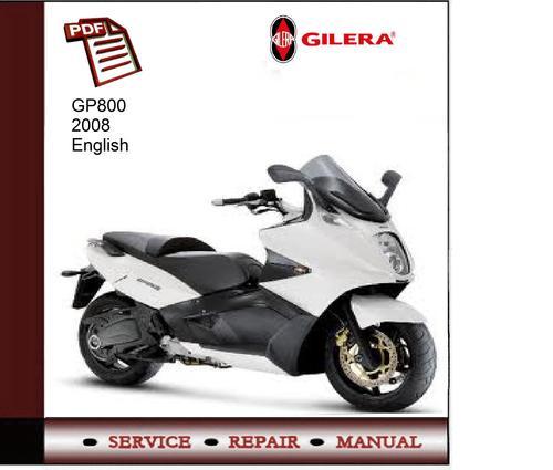 gilera gp 800 owners manual