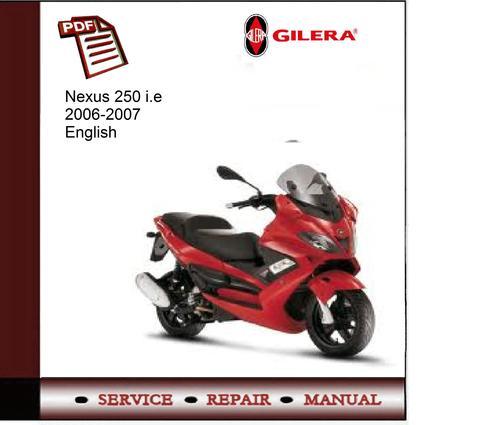 gilera nexus 250 workshop manual