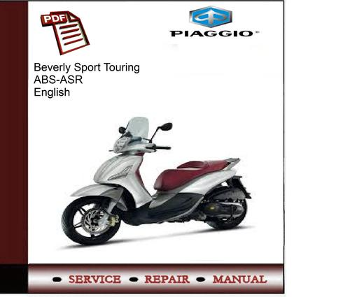 Free Piaggio Beverly Sport Touring ABS - ASR Service Manual Download thumbnail
