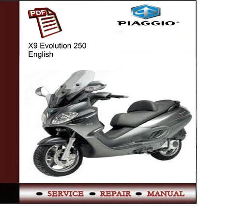 piaggio x9 evolution 250 service manual download manuals