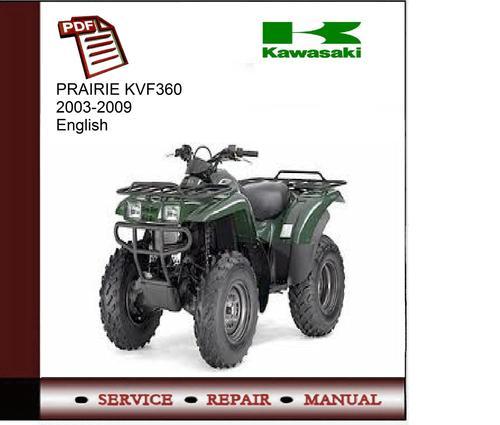 kawasaki prairie kvf360 2003 2009 service manual download manuals rh tradebit com Kawasaki KVF360 Engine Schematics Kawasaki KVF360 Engine Schematics