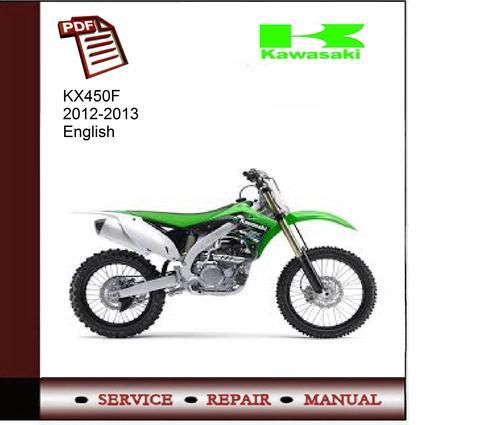 2013 kx450f service manual pdf