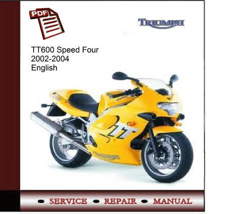 Triumph Tt600 Speed Four 2002-2004 Service Manual