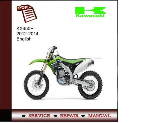 kawasaki kx450f 2012 2014 service manual download manuals t rh tradebit com Kawasaki KXF 450 Specifications 2008 KXF 450