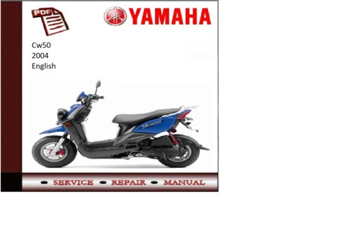 Yamaha cw50 2004 workshop service repair manual download for Yamaha rx v1600 manual