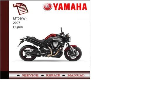 yamaha mt01 w 2007 workshop service repair manual. Black Bedroom Furniture Sets. Home Design Ideas