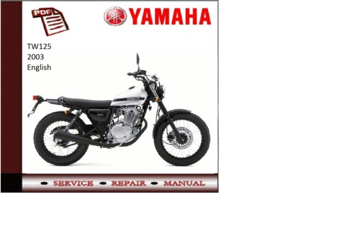 yamaha tw125 2003 supplementary service repair manual. Black Bedroom Furniture Sets. Home Design Ideas