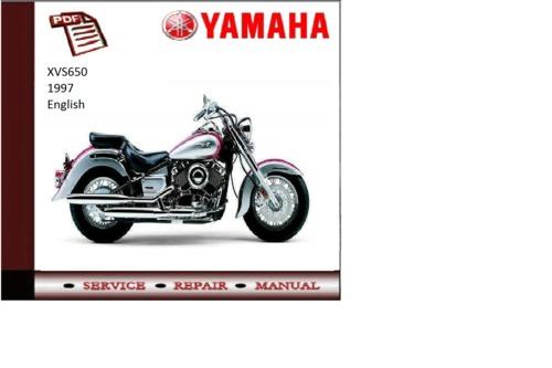 Yamaha xvs650 1997 supplementary service repair manual for Yamaha rx v377 manual