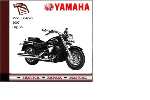 yamaha xvs1300a w 2007 workshop service repair manual. Black Bedroom Furniture Sets. Home Design Ideas