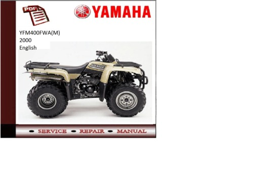 Yamaha yfm400fwa m 2000 workshop service repair manual for Yamaha rx v1600 manual