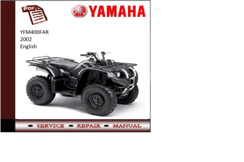 yamaha yfm450far 2002 workshop service repair manual. Black Bedroom Furniture Sets. Home Design Ideas