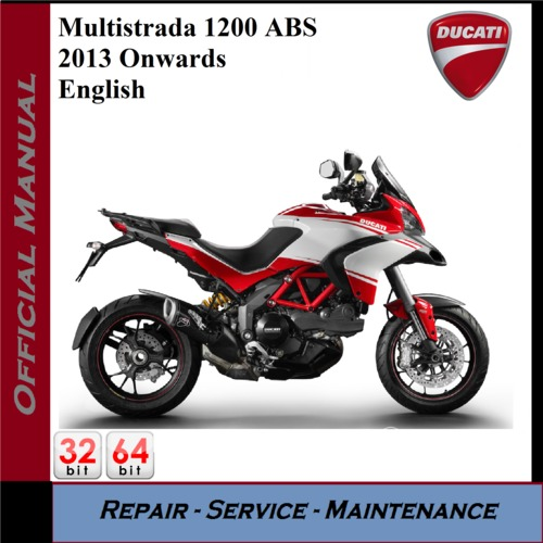 ducati multistrada 1200 abs 2013 workshop service manual. Black Bedroom Furniture Sets. Home Design Ideas
